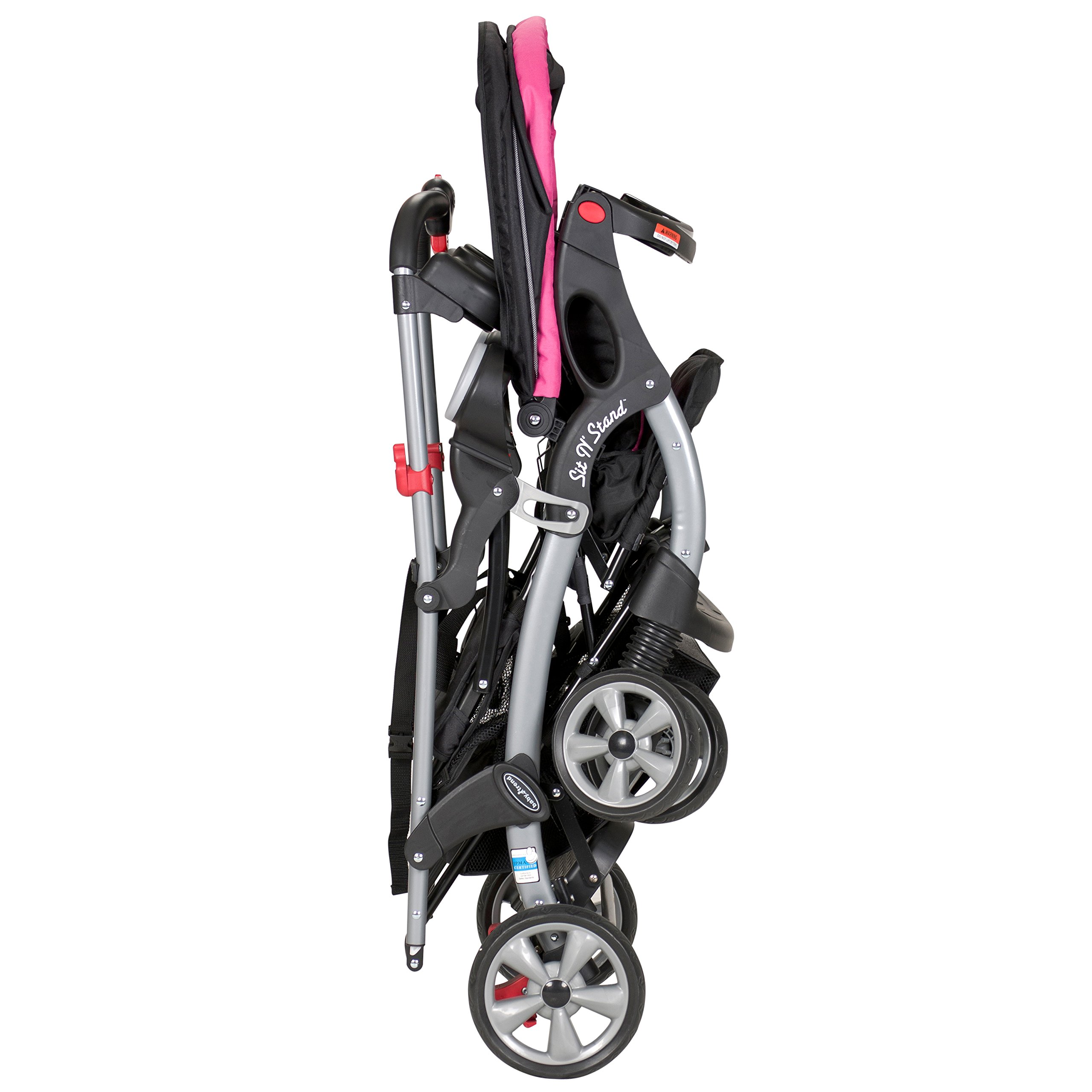 Baby Trend Sit n Stand Ultra Stroller, Bubble Gum by Baby Trend (Image #5)