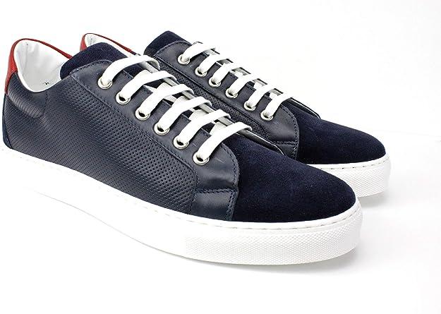 Ivan Troy Blue Aquim Handmade Italian Leather Sneaker Shoes//Casual Shoes//Men Shoes