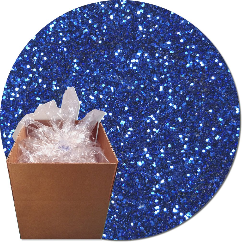 Glitter My World! Craft Glitter: 25lb Box: Royal Blue Streak
