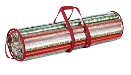 whitmor clear gift wrap organizer clearred trim