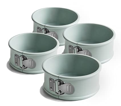 Jamie Oliver Non-Stick Mini Springform Round Cake Tin - 10 cm, Harbour Blue