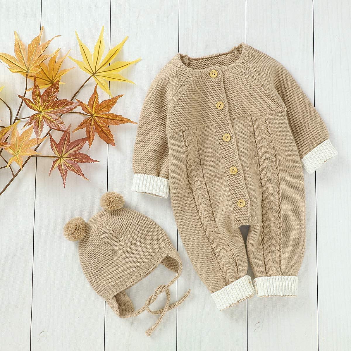 con cappello abbigliamento invernale Puseky Tuta da neonato a maniche lunghe