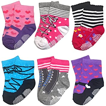 Amazon Com Baby Socks For Toddler Girls With Non Skid Best Gift