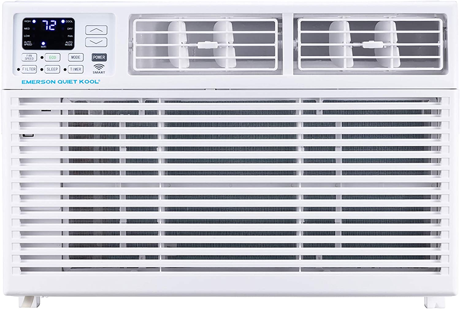 Emerson Quiet Kool EARC6RSE1 6,000 BTU 115V SMART Window Air Conditioner with Remote, Wi-Fi, and Voice Control, White