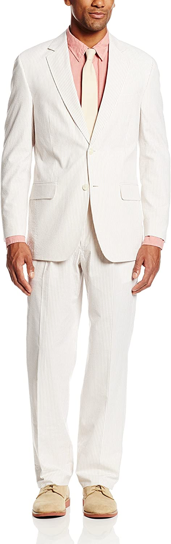 Palm Beach Men's Baxter Seersucker 2 Button Center Vent Suit
