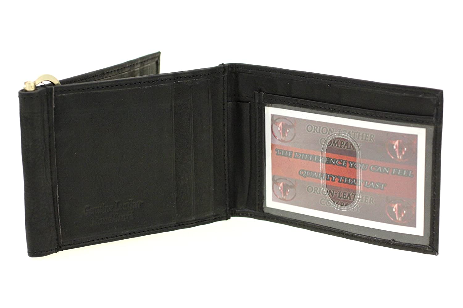 Paul /& Taylor Mens Leather Z-Shape Money Clip Wallet