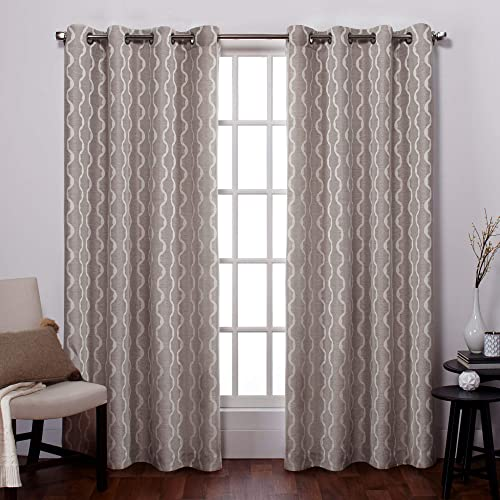Reviewed: Exclusive Home Curtains Baroque Textured Linen Look Jacquard Grommet Top Panel Pair
