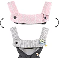 Premium Drool and Teething Reversible Cotton Pad | Fits Ergobaby Four Position 360 + Most Baby Carrier | Pink…