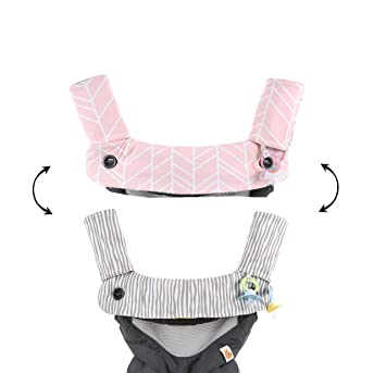 Premium Drool and Teething Reversible Cotton Pad | Fits Ergobaby Four Position 360 + Most Baby Carriers