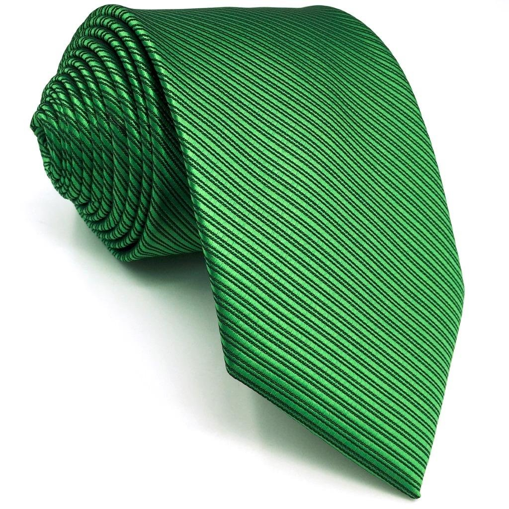 SHLAX&WING Solid Color Green Necktie for Men Business Wedding New Tie Set Long by S&W SHLAX&WING (Image #2)