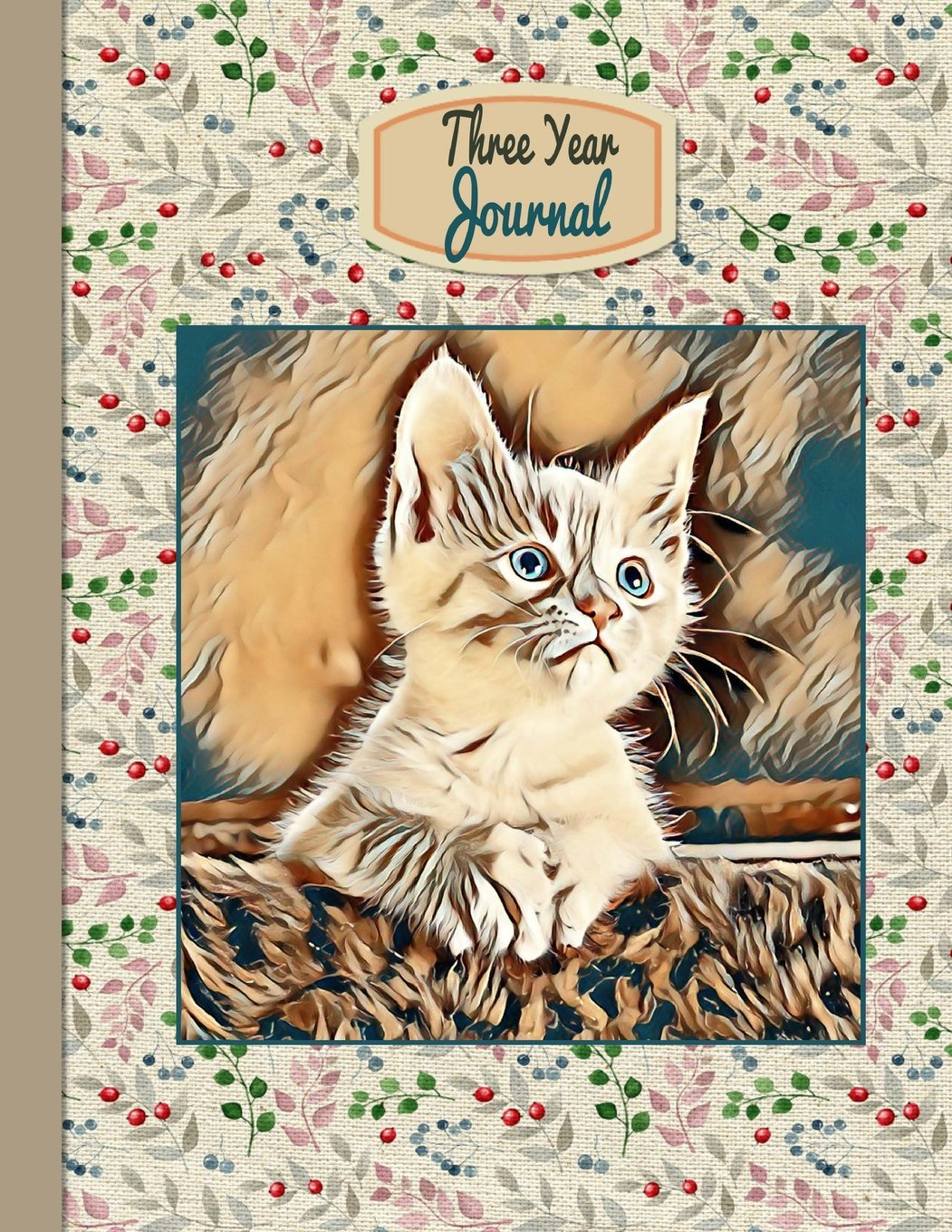 "Download 3 Year Journal: Kitten: 3 Year Journal: Theme Design  8.5""x 11"" Paperback undated Perpetual Planner 150 pages (Undated 3 year weekly monthly Journal) pdf epub"