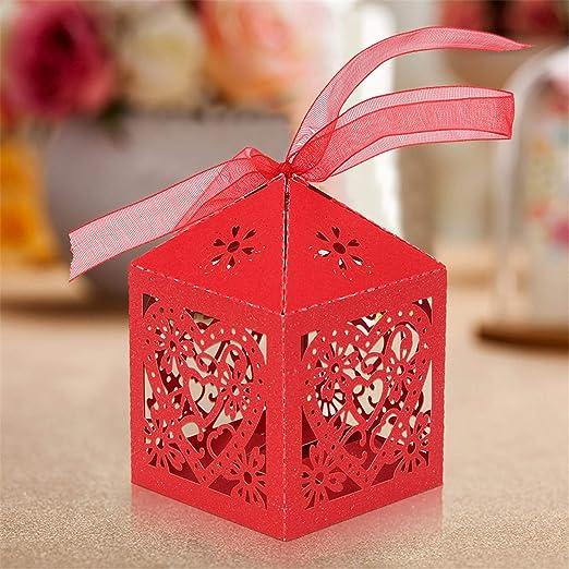 MultiWare 50 cajas para dulces, cajas de regalo, boda, con ...