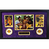 $2499 » Kobe Bryant Shaquille O'Neal Los Angeles Lakers DUAL Signed Autograph Custom Framed Photo Suede Matting 8x10 to 16x26 Photograph Panini…