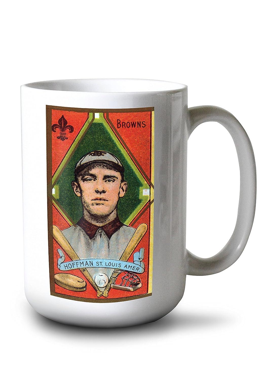 セントルイスBrowns – ダニエルJホフマン – 野球カード 15oz Mug LANT-3P-15OZ-WHT-23063 B077RZV9SP  15oz Mug