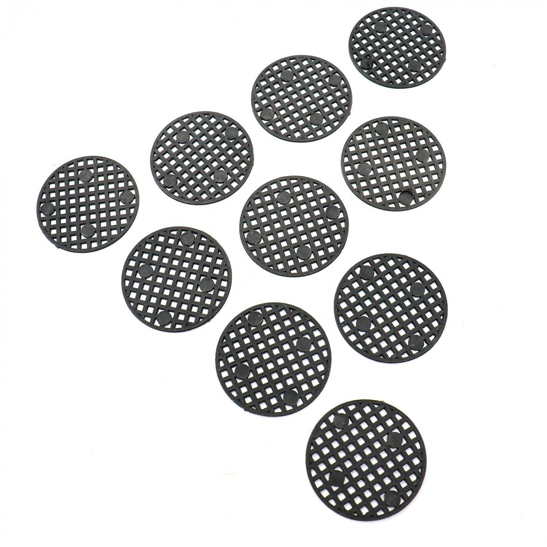 HUELE 100 Pcs Flower Pot Hole Mesh Pad Bottom Grid Mat Breathable Gasket for Bonsai 1.77''