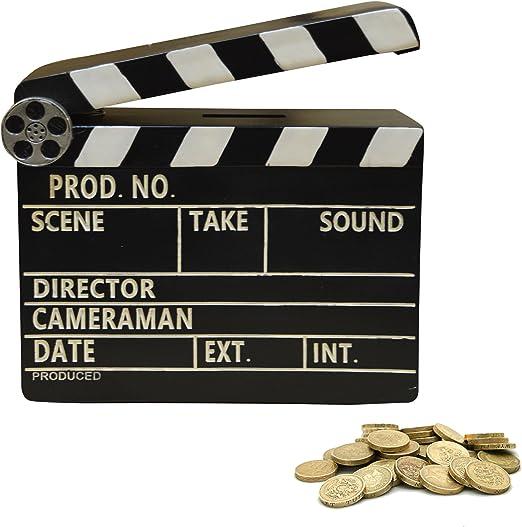 New Retro regalo escena de vídeo claqueta caja de dinero (Movie1): Amazon.es: Jardín