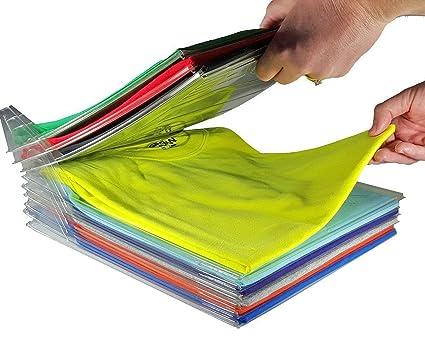 Tied Ribbons Shirt T Shirt Organizer Storage Folder Tray Rack Shirts And  Clothing Organizer For