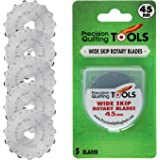 45mm Crochet Edge Skip Blades (Pack of 5) Fits Fiskars, Olfa! Perfect blade for crochet edge projects, fleece, and scrapbooking!