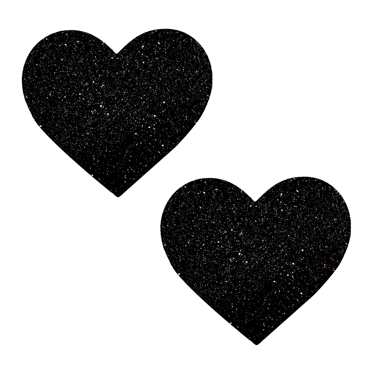 Neva Nude Black Malice Glitter I Heart U Nipztix Pasties Nipple Covers