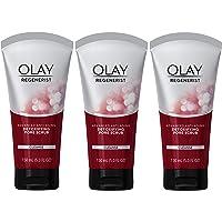 Facial Cleanser by Olay Regenerist, Detoxifying Pore Scrub & Exfoliator, 5 Oz (Pack of 3)