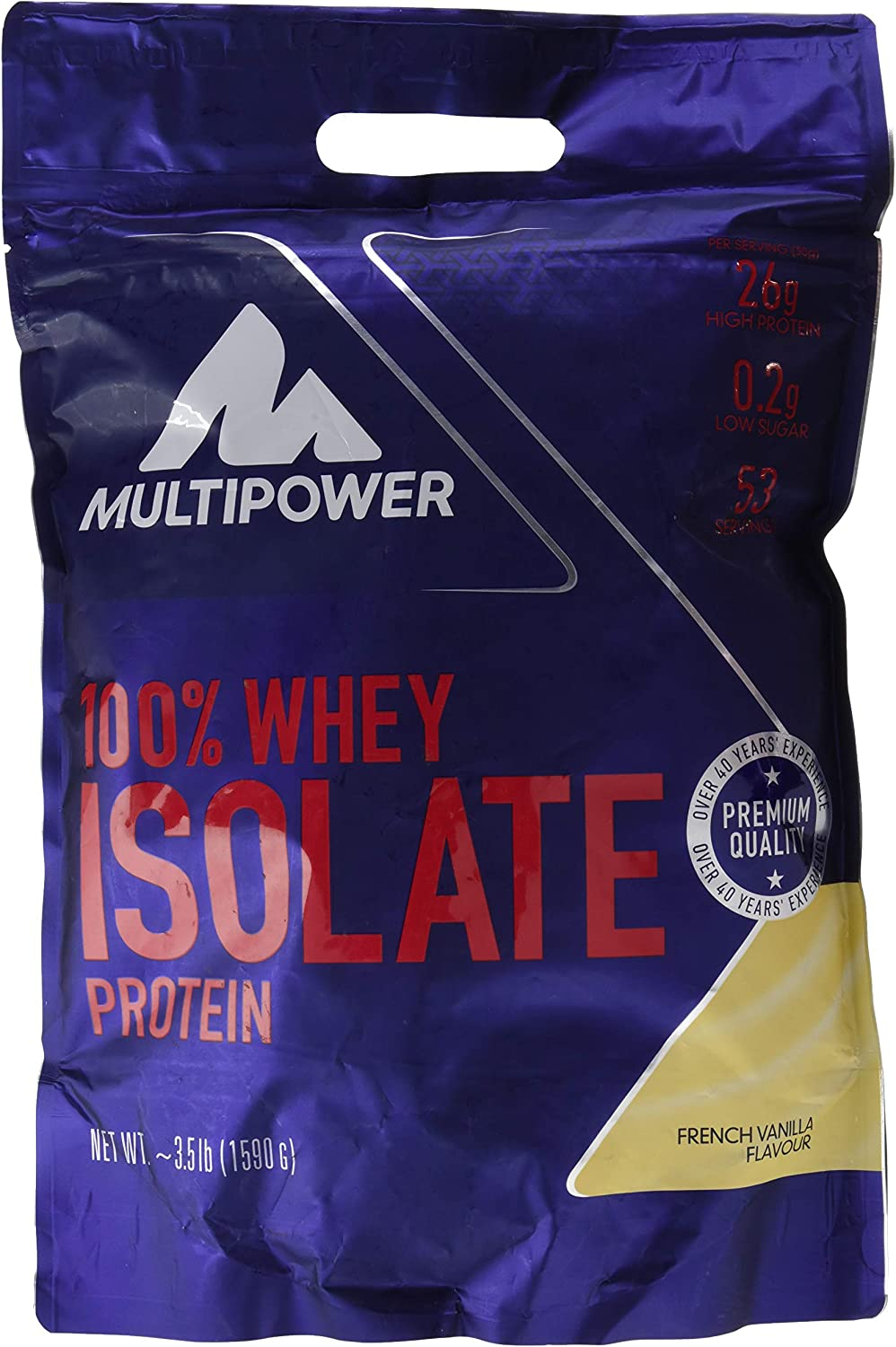 Multipower 100% Whey Isolate, Sabor French Vanilla - 1590 gr