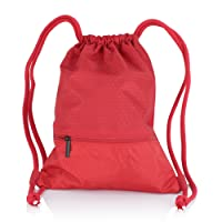 Zenwow Sac à cordon–Sport Sac de sport étanche PE Duffle Sac à dos d'école de natation Noir Sac avec grande poche zippée pour adultes et enfants Enfants garçons filles