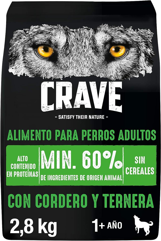 Crave Cordero y ternera para perros adultos 2.8 kg (Pack de 3 ...