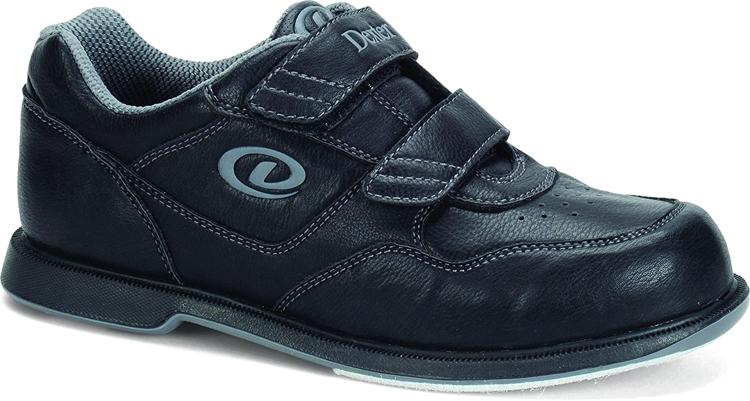 Dexter Men's V Strap Bowling Shoes B00KTYKCRI 6|Black