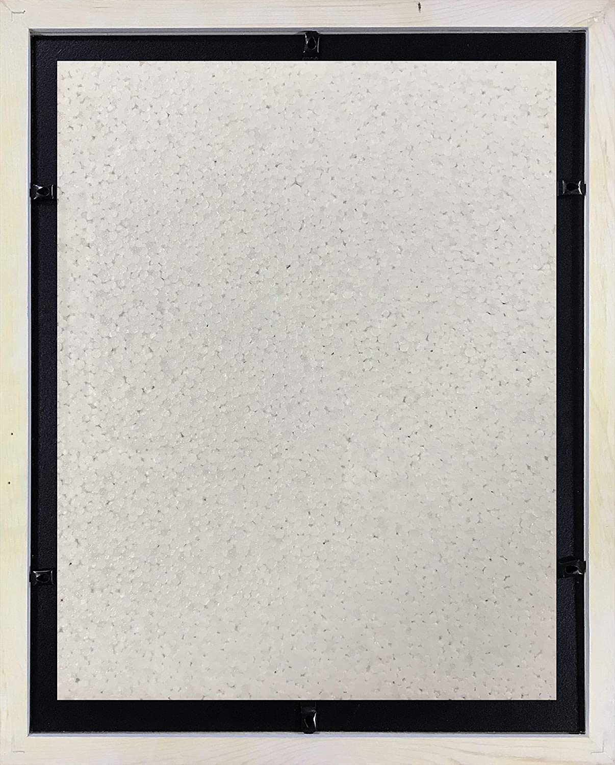 """1001.02-1620-HF-WF-16X20-WO-11X14 100/% Tempered Glass Studio 500 Inc White Frames Come with 1pc Ivory White Beveled Matt Board for 11/""""x14/"""" Picture Opening Studio 500-2 Pack Set of 16 by 20-inch 100/% Real Wood Photo Frames"""