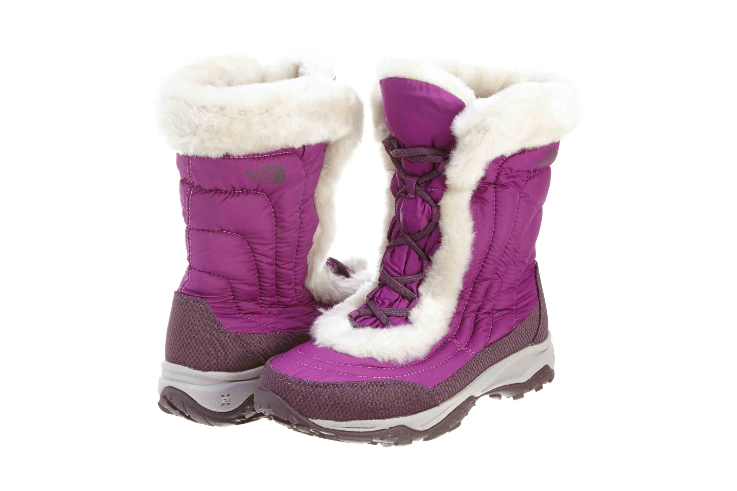 The North Face Girl's Nuptse Faux Fur II Boot Premiere Purple / Baroque Purple 7