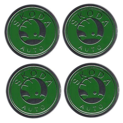 Emblema de aleación para los tapacubos de las ruedas con el logotipo de Skoda (4
