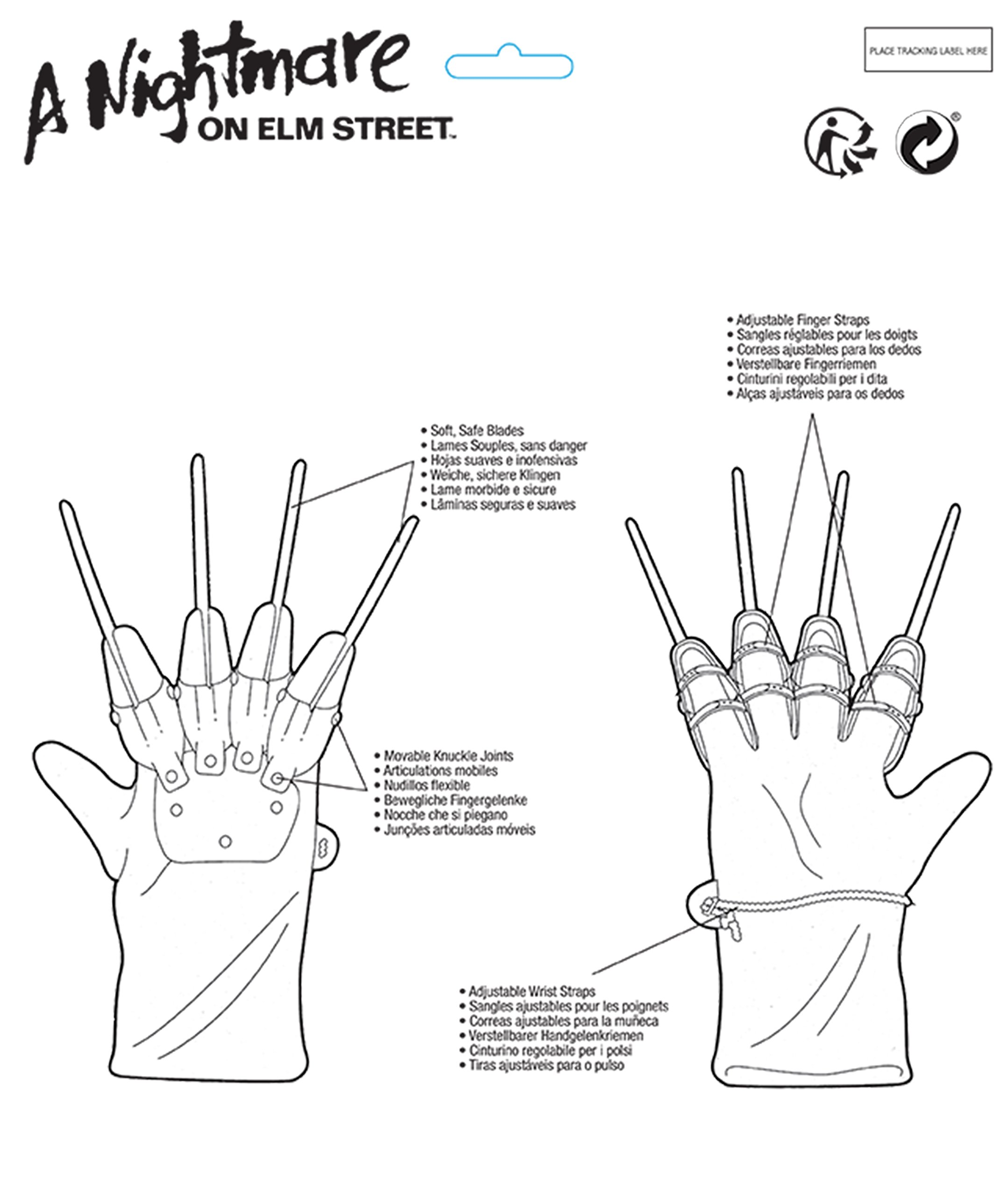 4067e8abe38 Nightmare on Elm Street Freddy Glove - 1231   Accessories   Clothing ...