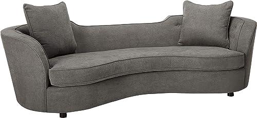 Armen Living LCPA3GREY Palisade Contemporary Sofa