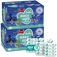 Pampers Baby Diapers and Wipes Starter Kit (2 Month Supply) - Cruisers Disposable Baby Diapers (2 x 174 Count) with…