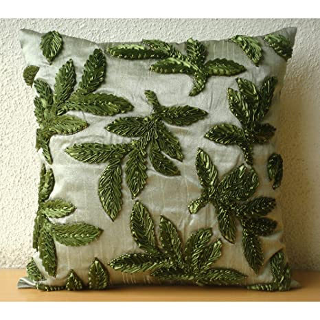 Leafy Days - Decorativa Funda de Cojin 40 x 40 cm, Square ...