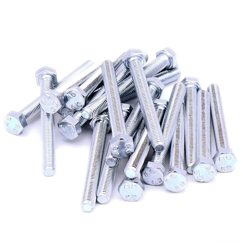 M5 (5mm x 10mm) Hex Bolts (Fully Threaded Setscrew) - Steel (Pack of 40) Singularity Supplies Ltd