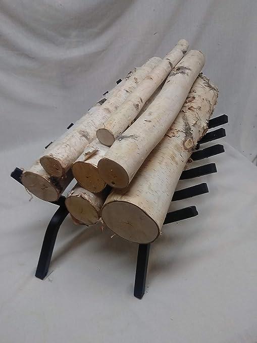 Amazon Com Gas Fireplace Decorative Birch Logs Minnesota White