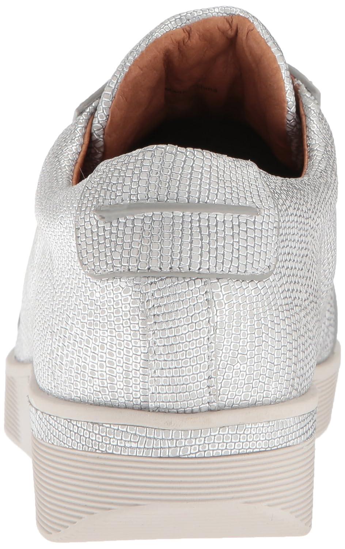 Gentle Souls by Kenneth Cole Women's Haddie Low Profile Fashion Sneaker Embossed Fashion Sneaker B07845998H 10 M US|White/Silver