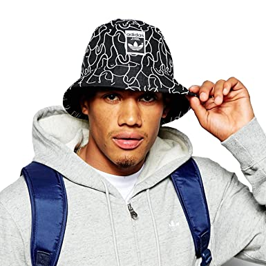 3264195944c Image Unavailable. Image not available for. Colour  adidas - Hats - Superstar  Bucket Hat - Black - Men