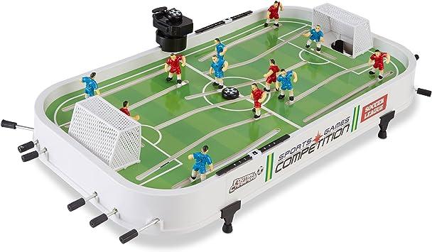 Relaxdays – 10021733 Fútbol mesa parte, niños y adultos, Juego Completo, con accesorios, futbolín, B X T 57 x 31 cm Soccer Table Game, color blanco y verde: Amazon.es ...