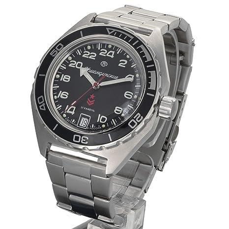 Amazon.com: Vostok Komandirskie Automatic 24 Hour Dial Russian Military Wristwatch WR 200m #650541: Watches
