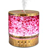 Sheoolor 400ml Essential Oil Diffuser for Large Room 20 Hours, Himalayan Salt Lamp Diffuser with 7 Color Changing Lights, Aro
