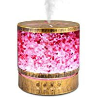 Sheoolor 400ml Essential Oil Diffuser for Large Room 20 Hours, Himalayan Salt Lamp Diffuser with 7 Color Changing Lights…