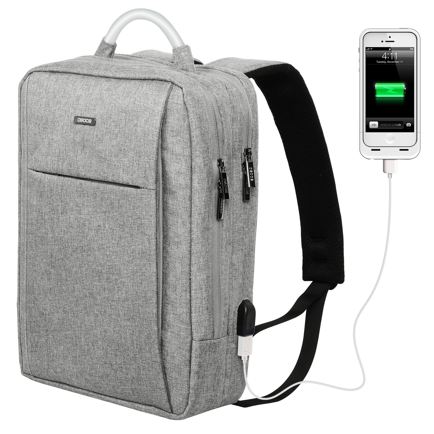 50%OFF OSOCE Slim Laptop Backpack Business Computer Bag with USB Port  Charger Anti Theft 2406d5b0127a7