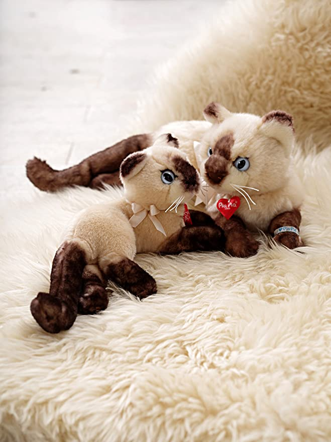 Amazon.com: Heinrich Bauer Pia Pia Club 17166 Stuffed Toy Siamese Cat Lying Down 20 Cm: Toys & Games