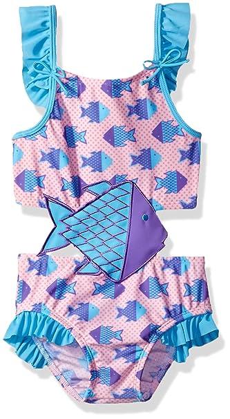 Amazon.com: Sol Swim Little Girls solo bebé-origami pescado ...