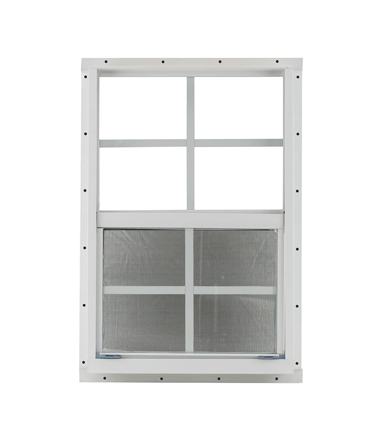 Treehouses Shed Window 16 X 24 White Flush Mount with Safety Glass Playhouses