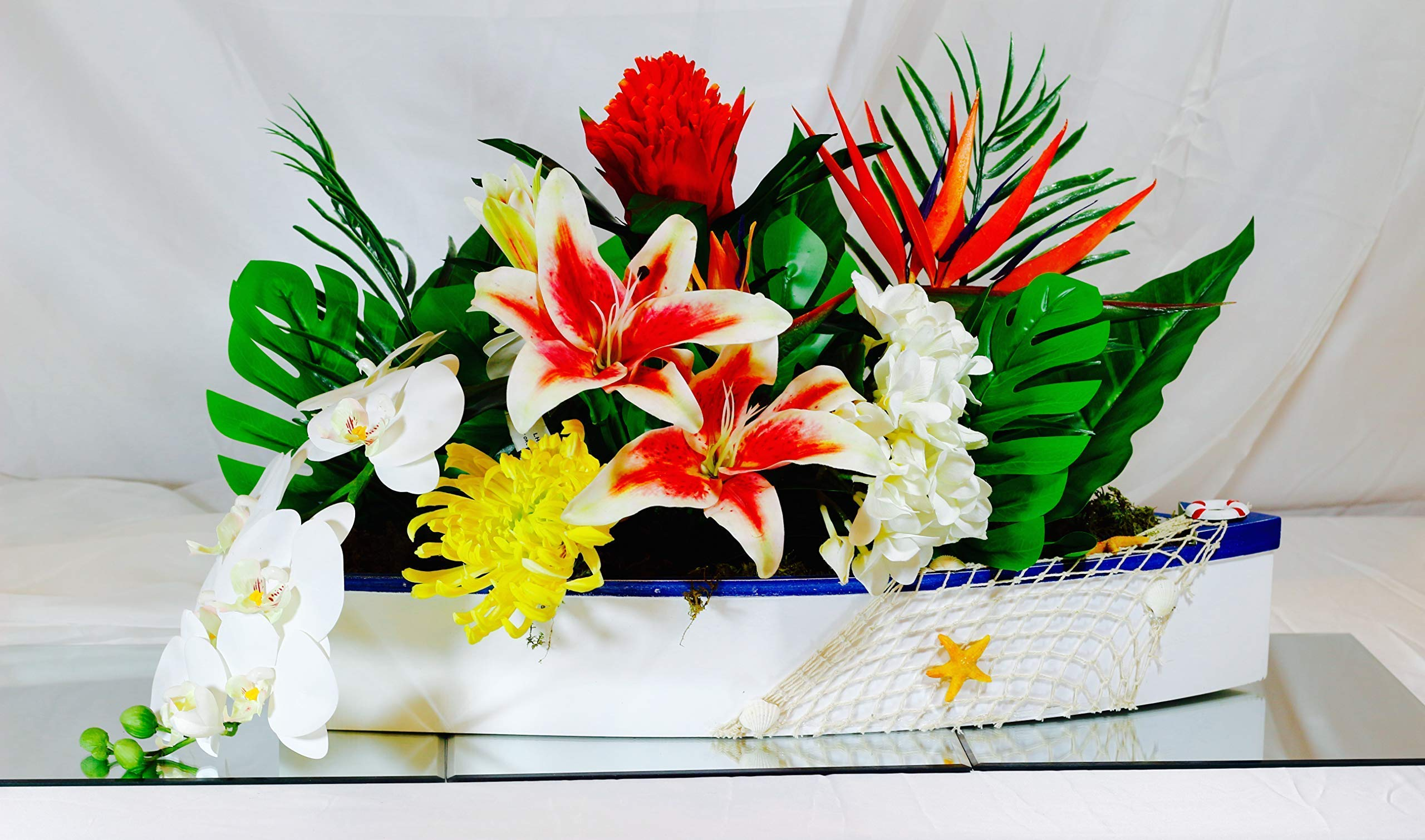 silk flower arrangements wsklinft artificial flower bird of paradise fake plant silk strelitzia reginae home decor - orange