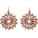 Fiorelli Costume Collection for Ladies with Rose Coloured Flower Earrings