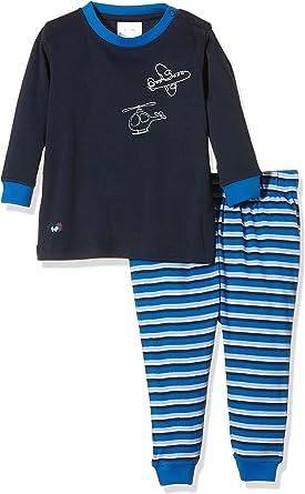 Twins Baby-Jungen Schlafanzug aus Verlours Dino
